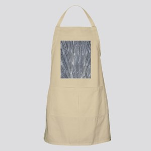 Silver Peacock Feathers Apron