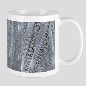 Silver Peacock Feathers Mugs