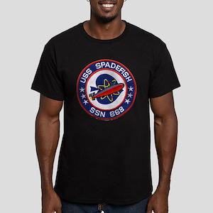 USS SPADEFISH Men's Fitted T-Shirt (dark)