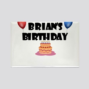 Brian's Birthday Rectangle Magnet