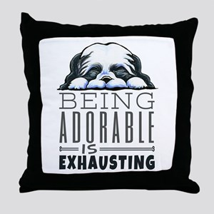 Adorable Shih Tzu Throw Pillow