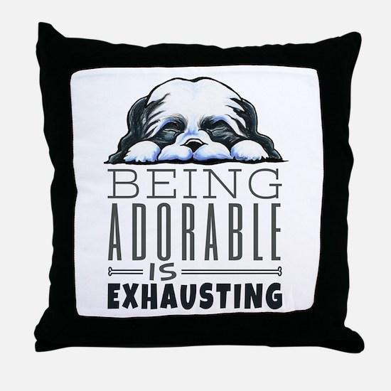 Adorable Shih Tzu Throw Pillow