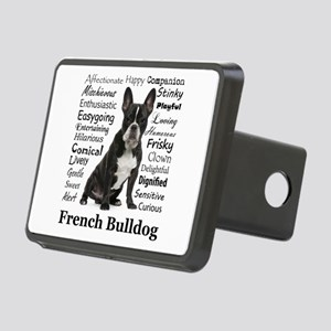 Frenchie Traits Rectangular Hitch Cover
