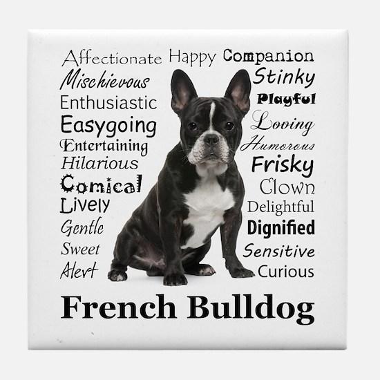Frenchie Traits Tile Coaster