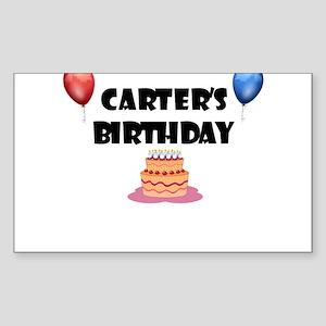 Carter's Birthday Rectangle Sticker
