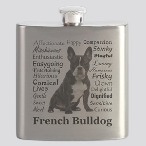 Frenchie Traits Flask