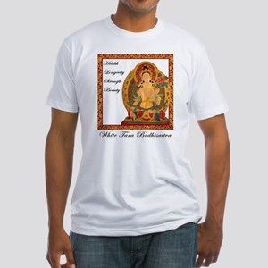 White Tara III Fitted T-Shirt