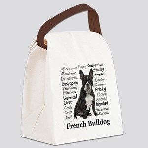 Frenchie Traits Canvas Lunch Bag