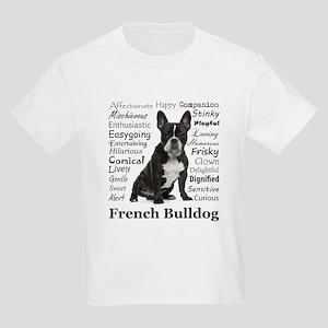 Frenchie Traits Kids Light T-Shirt