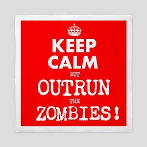 Keep Calm but Outrun the Zombies Queen Duvet