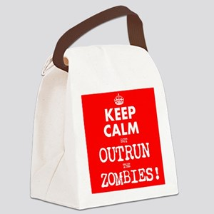 Keep Calm but Outrun the Zombies Canvas Lunch Bag