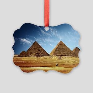 Giza Pyramids Picture Ornament