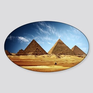 Giza Pyramids Sticker (Oval)