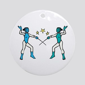Women Fencing Ornament (Round)