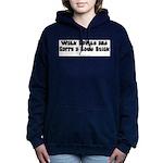 Walk_Softly_BW Women's Hooded Sweatshirt