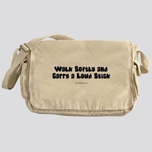 Walk_Softly_BW Messenger Bag
