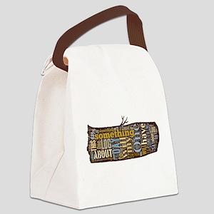 My Log Canvas Lunch Bag