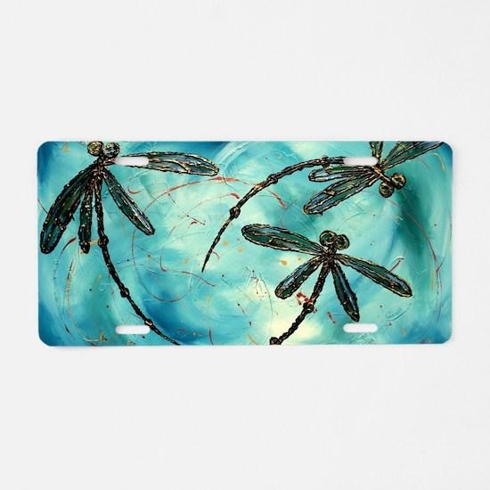 Unique Dragonflies Aluminum License Plate