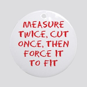 measure force Ornament (Round)