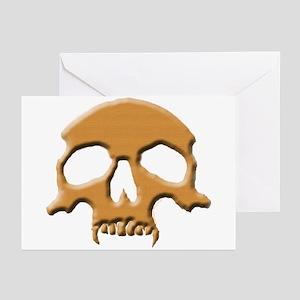 Skull (Wood Vampire) Greeting Cards (Pk of 10)