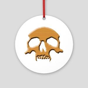 Skull (Wood Vampire) Ornament (Round)