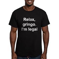 Relax, Gringo. I'm leg Men's Fitted T-Shirt (dark)