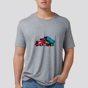 Roll-Off Truck Side Up Retro T-Shirt