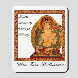 White Tara III Mousepad