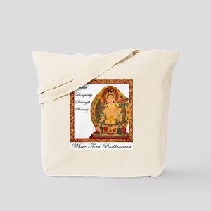 White Tara III Tote Bag