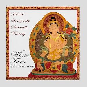White Tara III Tile Coaster
