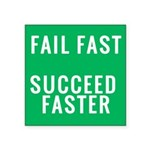 Fail Fast. Succeed Faster. Sticker