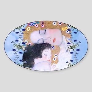 Gustav Klimt Mother & Child Bucket  Sticker (Oval)