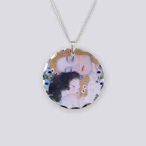 Gustav Klimt Mother & Child  Necklace Circle Charm