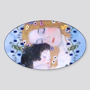 Gustav Klimt Mother & Child Diaper  Sticker (Oval)