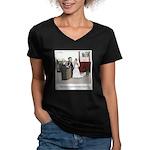 Married Dozens of Time Women's V-Neck Dark T-Shirt