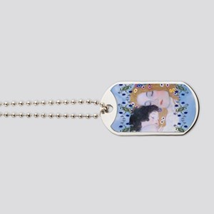Gustav Klimt Mother & Child Messenger Bag Dog Tags