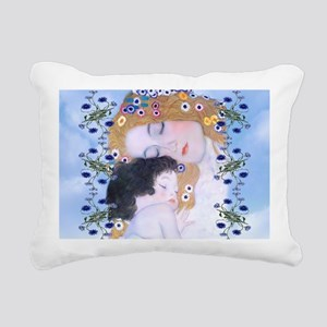 Gustav Klimt Mother & Ch Rectangular Canvas Pillow