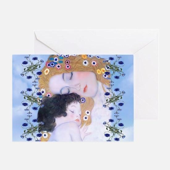 Gustav Klimt Mother & Child Messenge Greeting Card