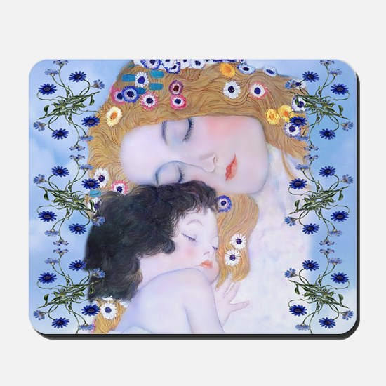 Gustav Klimt Mother & Child Messenger Ba Mousepad