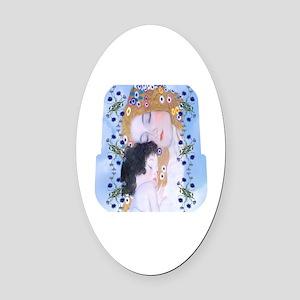 Gustav Klimt Mother & Child Lunch  Oval Car Magnet