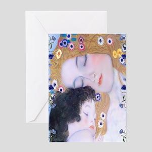 Gustav Klimt Mother & Child Nook Sle Greeting Card