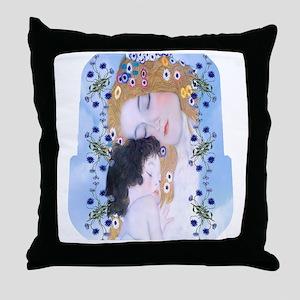 Gustav Klimt Mother & Child Lunch Bag Throw Pillow