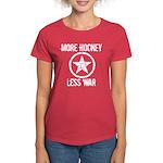 More Hockey Less War Women's Dark T-Shirt