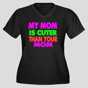 My Mom is Cu Women's Plus Size V-Neck Dark T-Shirt
