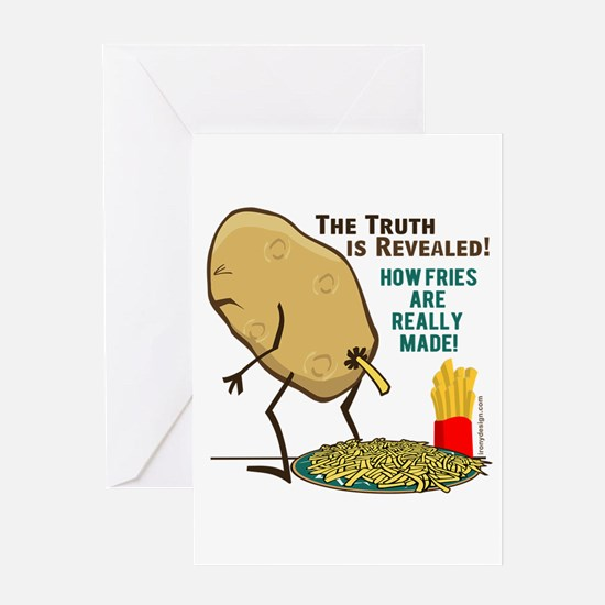 How Fries Are Really Made Greeting Card