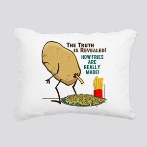 How Fries Are Really Mad Rectangular Canvas Pillow