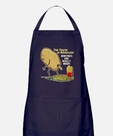 How Fries Are Really Made Apron (dark)