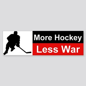 More Hockey Less War Bumper Sticker