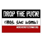 Drop the Puck Rectangle Sticker