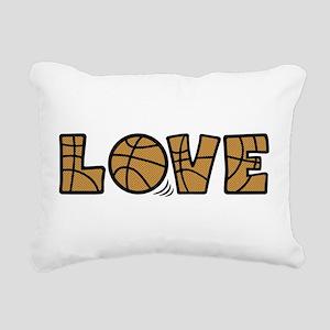LOVE BASKETBALL Rectangular Canvas Pillow